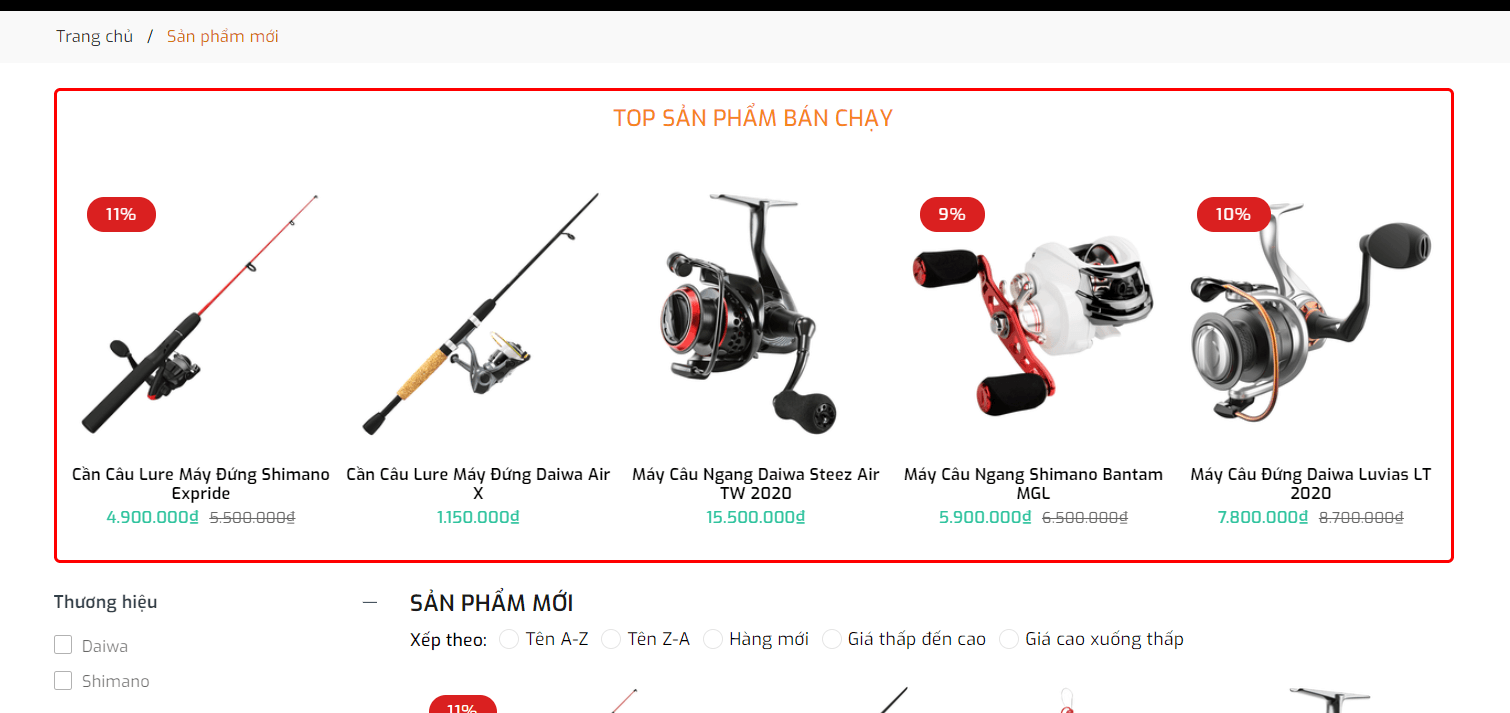 Evo Fishing Sản phẩm bán chạy