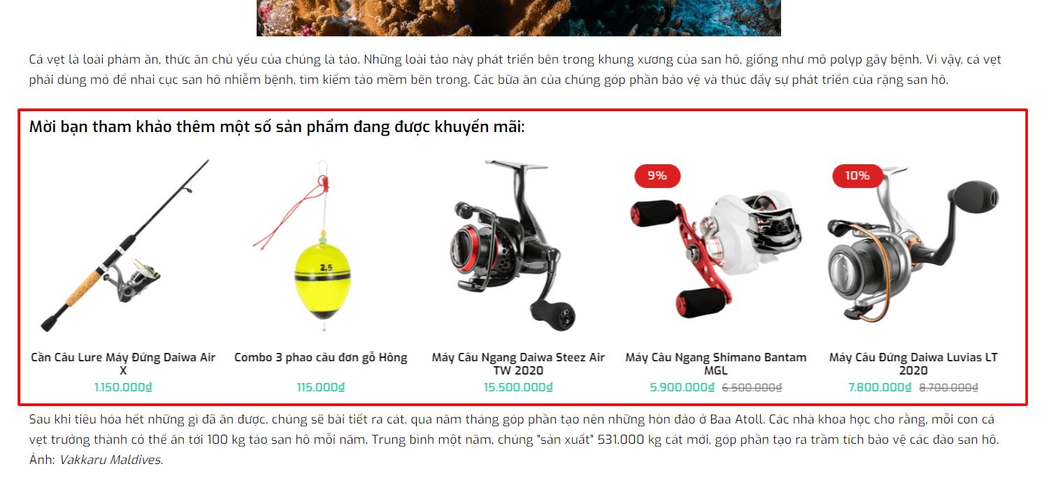 Evo Fishing Sản phẩm trong tin tức
