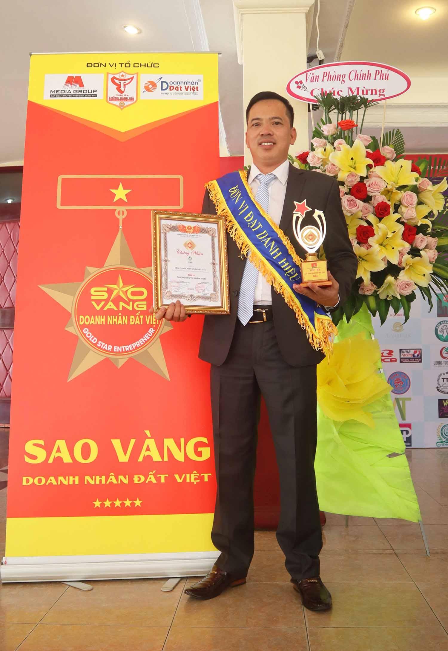 Giải thưởng top 50 doanh nhân sao vàng đát việt