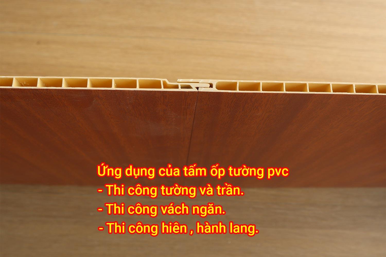 Ứng dụng của tấm ốp tường pvc.