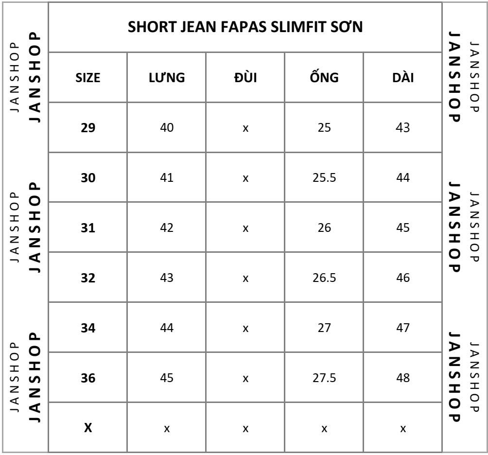 SHORT JEAN FAPAS SLIMFIT SƠN