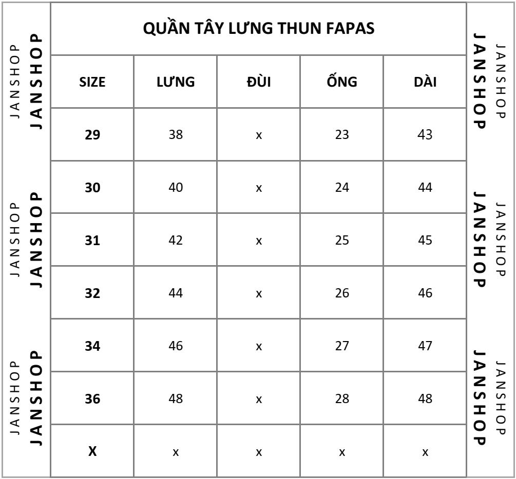 SHORT TÂY FAPAS LƯNG THUN