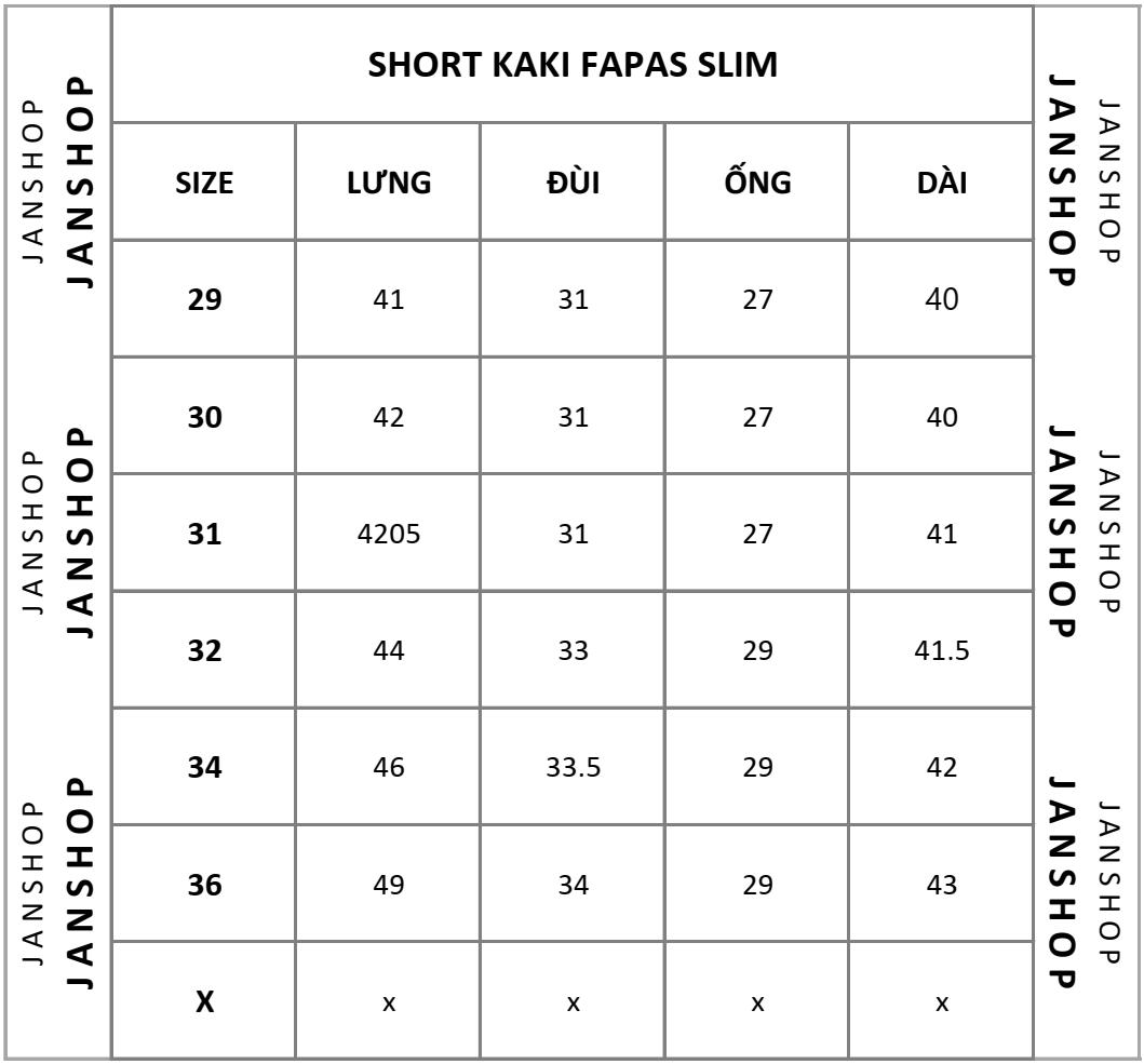 SHORT KAKI FAPAS SLIM