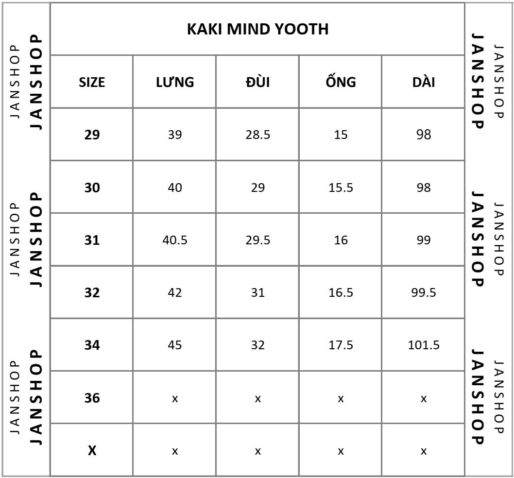 KAKI M.YOOTH TRƠN