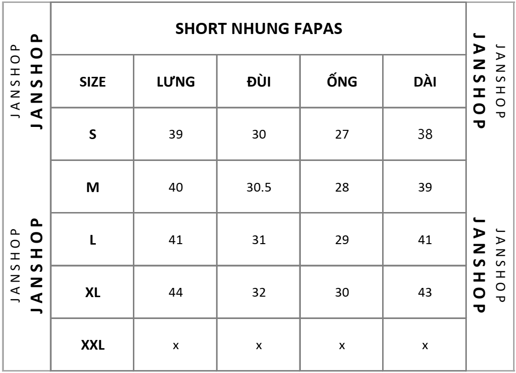SHORT NHUNG FAPAS 5M