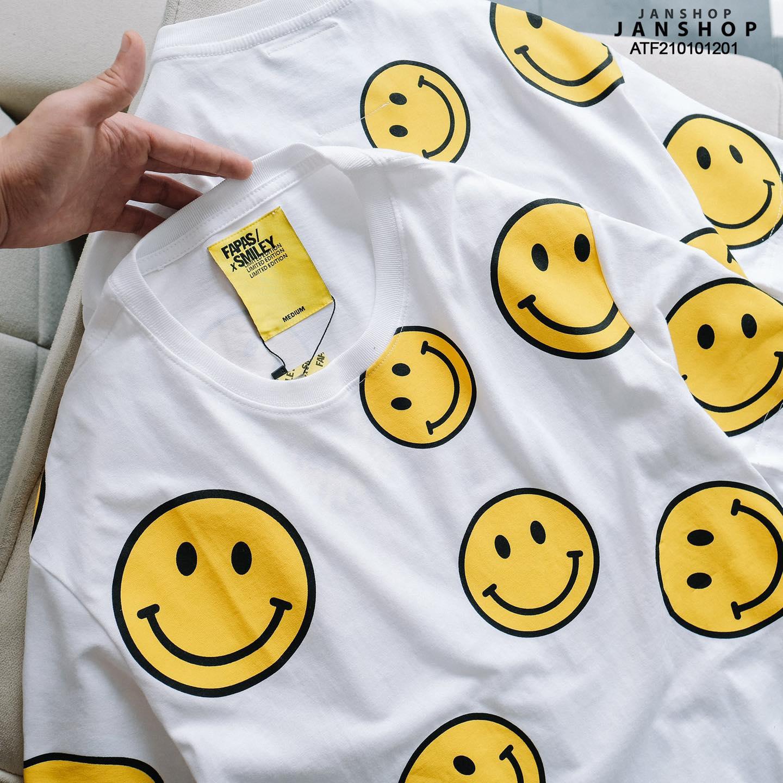 ÁO THUN FAPAS SMILEY TRẮNG