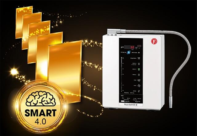 Máy Điện Giải Ion Kiềm Fuji Smart I8 sở hữu 5 tấm điện cực thế hện SMART 4.0