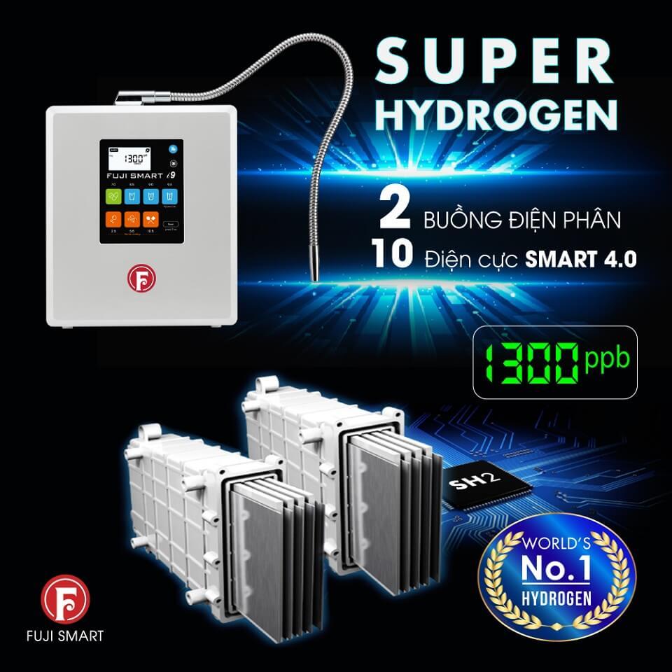 Máy Điện Giải Ion Kiềm Fuji Smart i9 tạo ra hiệu suất siêu khủng, gấp 4-5 lần so với 1 buồng điện phân đơn