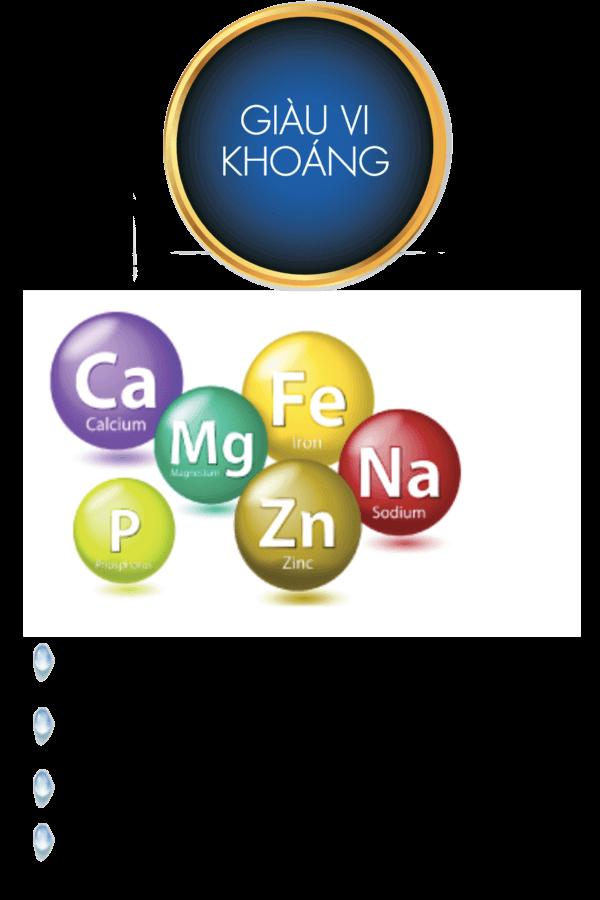 Nước Kangen chứa nhiều vi khoáng tự nhiên hơn các loại nước thông thường.