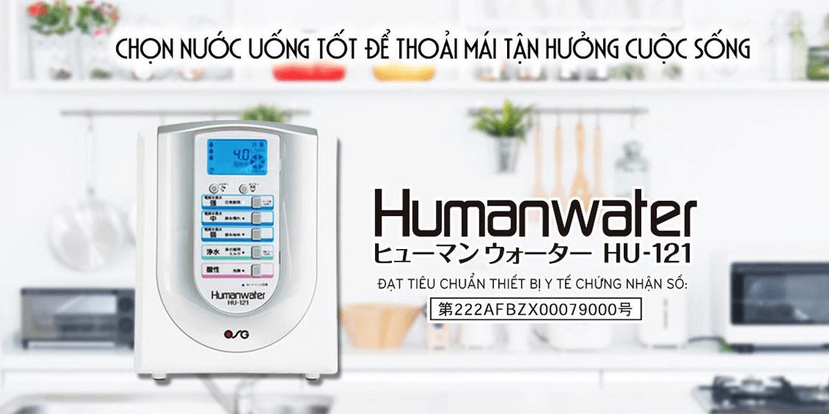 OSG Human Water HU-121 tạo ra loại nước sử dụng hằng ngày, tốt cho sức khoẻ.