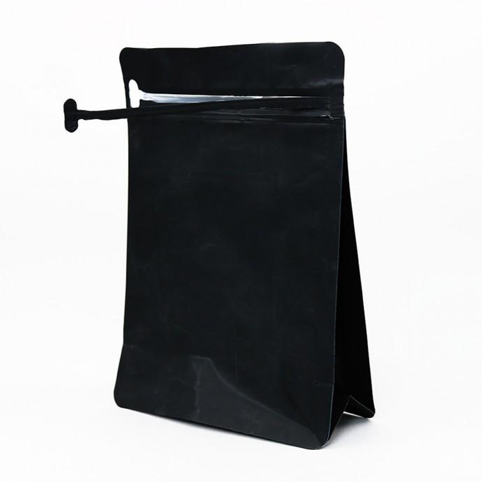 Matte Black Pocket Zipper Bag