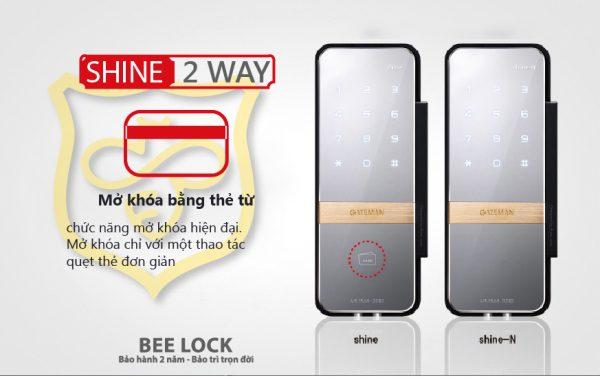 Khóa cửa kính thẻ từ Gateman Shine 2 Way 2