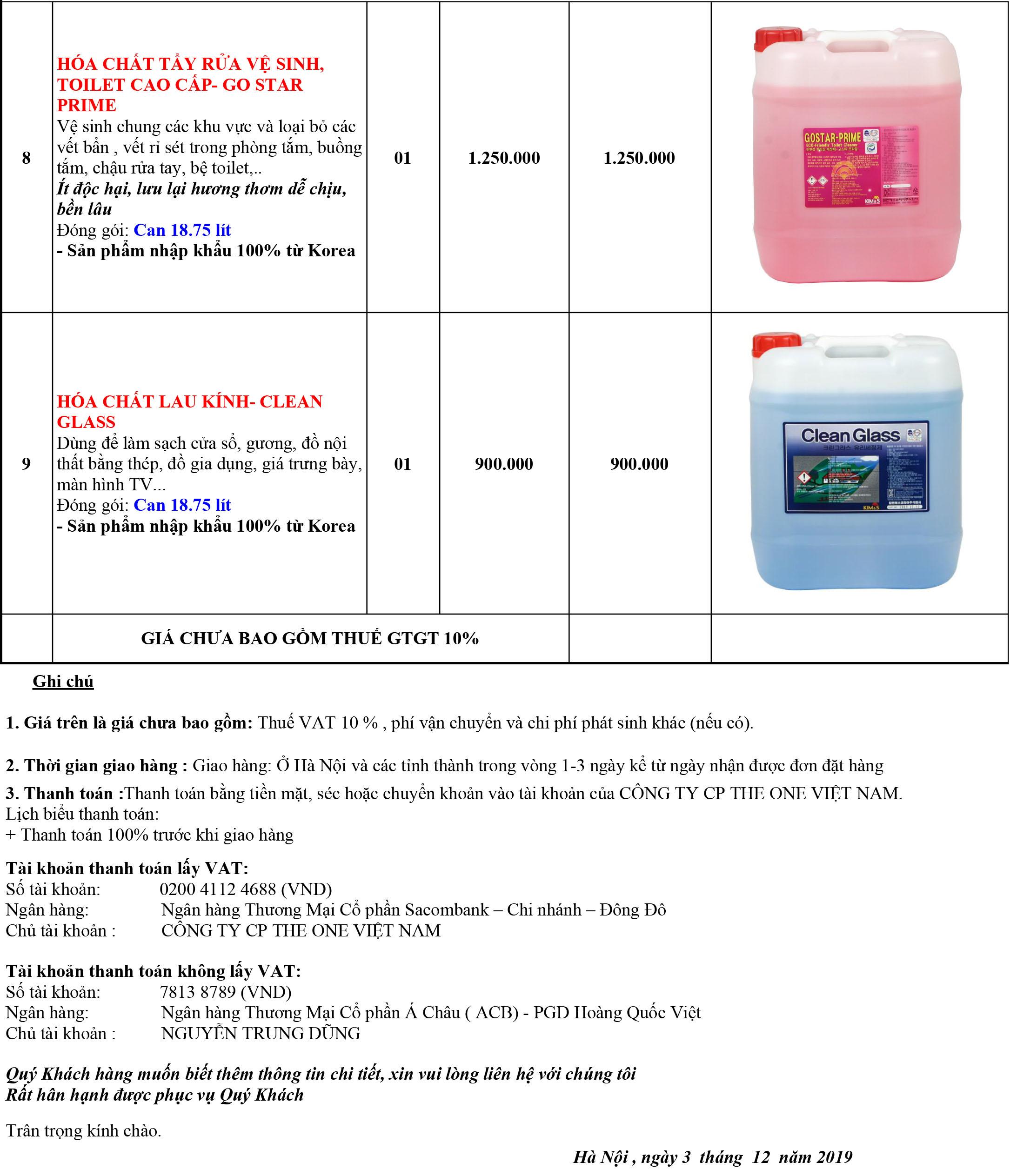 giá hóa chất vệ sinh khách sạn vệ sinh hàng ngày