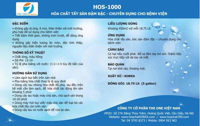 Cách sử dụng Hóa chất vệ sinh sàn HOS 1000 Korea