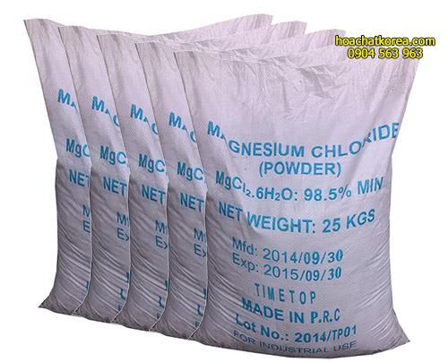 MgCl2.6H20 bột Chất gây mê khử trùng sát khuẩn ổn định môi trường nước ao nuôi