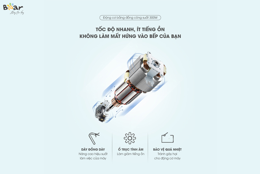 Máy xay thịt Bear 2L FC-B20V1 (QSJ-B20Q1)- Bảo hành 18 tháng