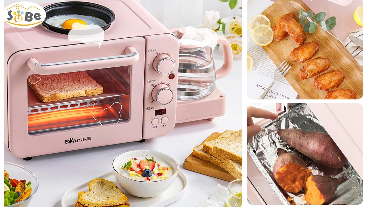 Lò nướng mini tích hợp chảo rán và ấm đun Bear DSL-C02B1