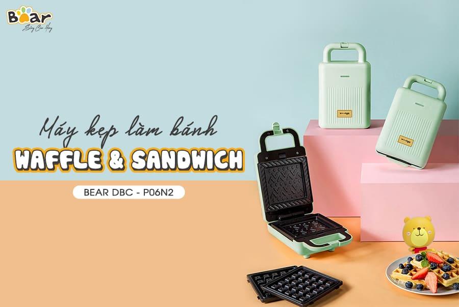 Máy nướng bánh mì kẹp 2 in 1 Bear DBC-P06N2