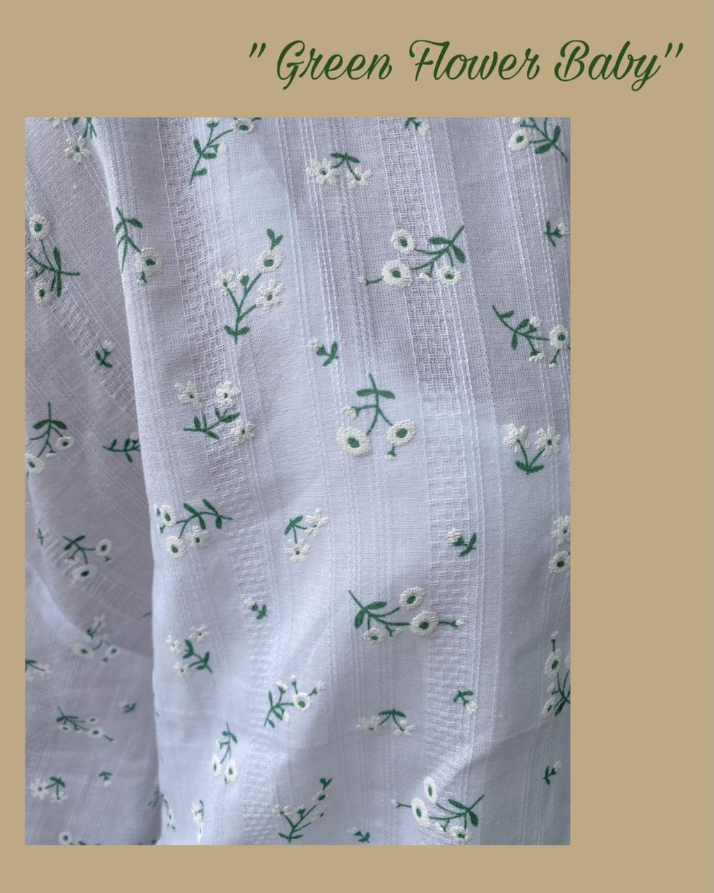 ÁO BABYDOLL GREEN FLOWER