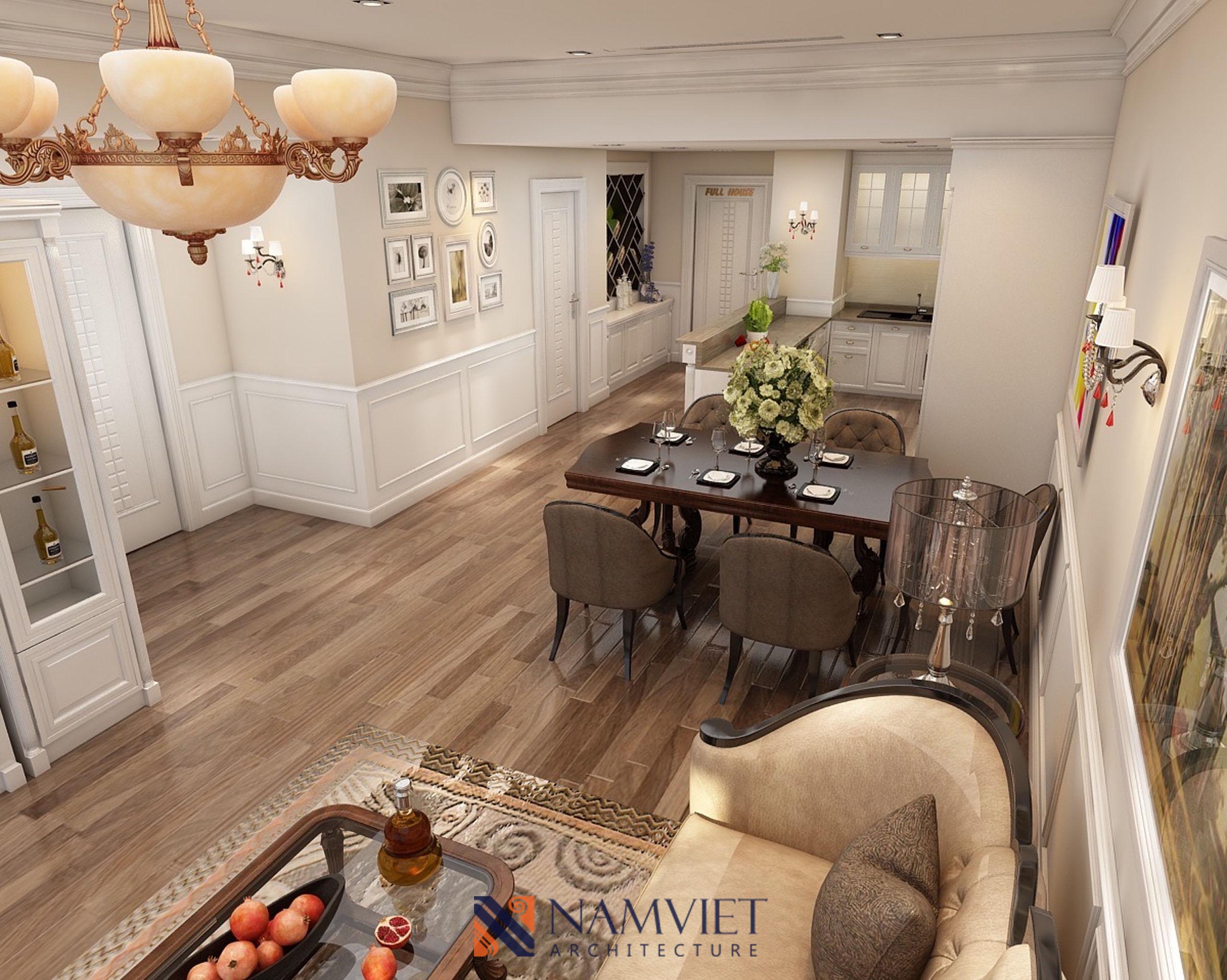 Thiết kế thi công căn hộ nhà anh Dũng Vincom Royal
