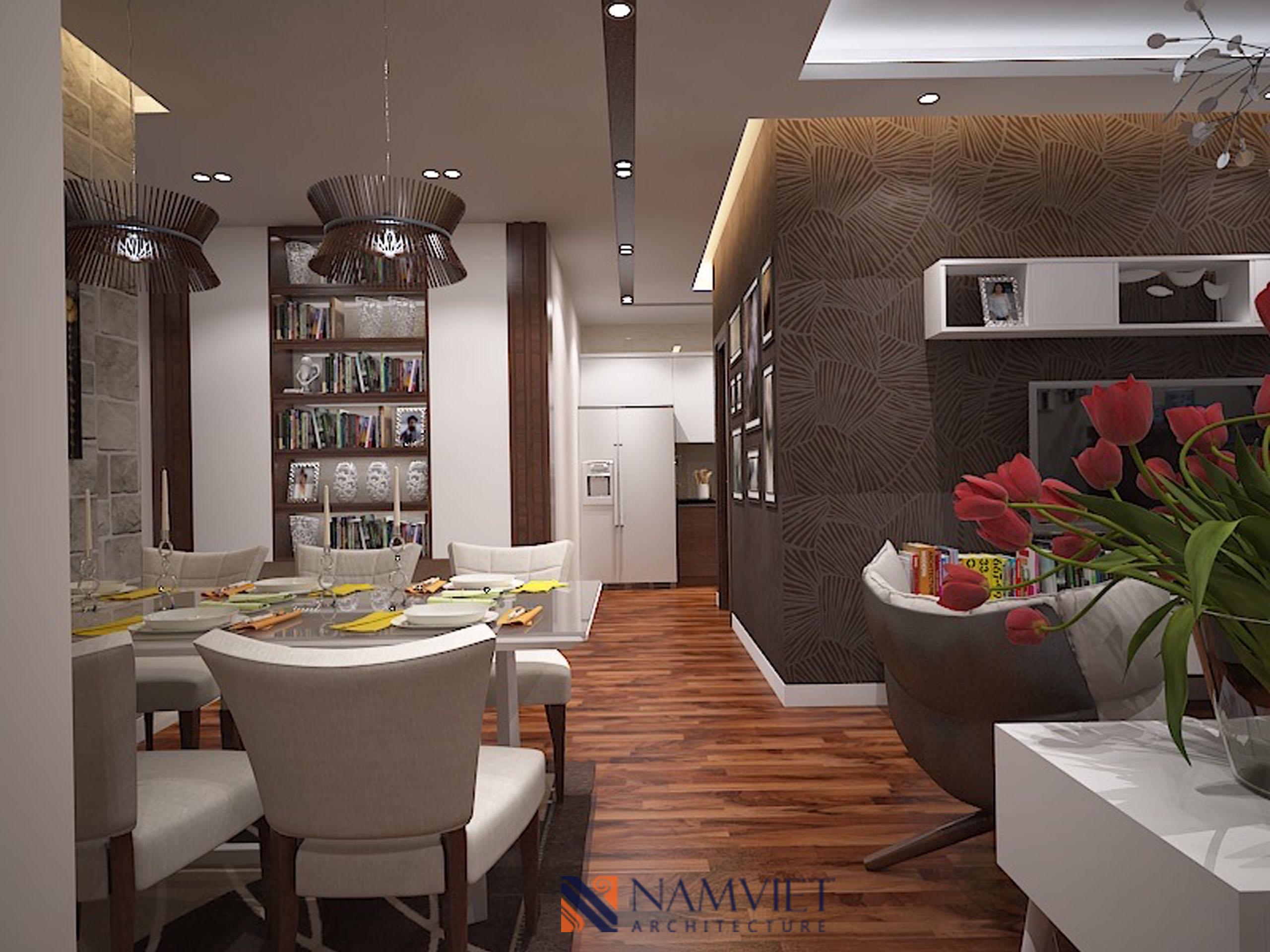 Thiết kế thi công căn hộ anh Nam - Lạc Trung