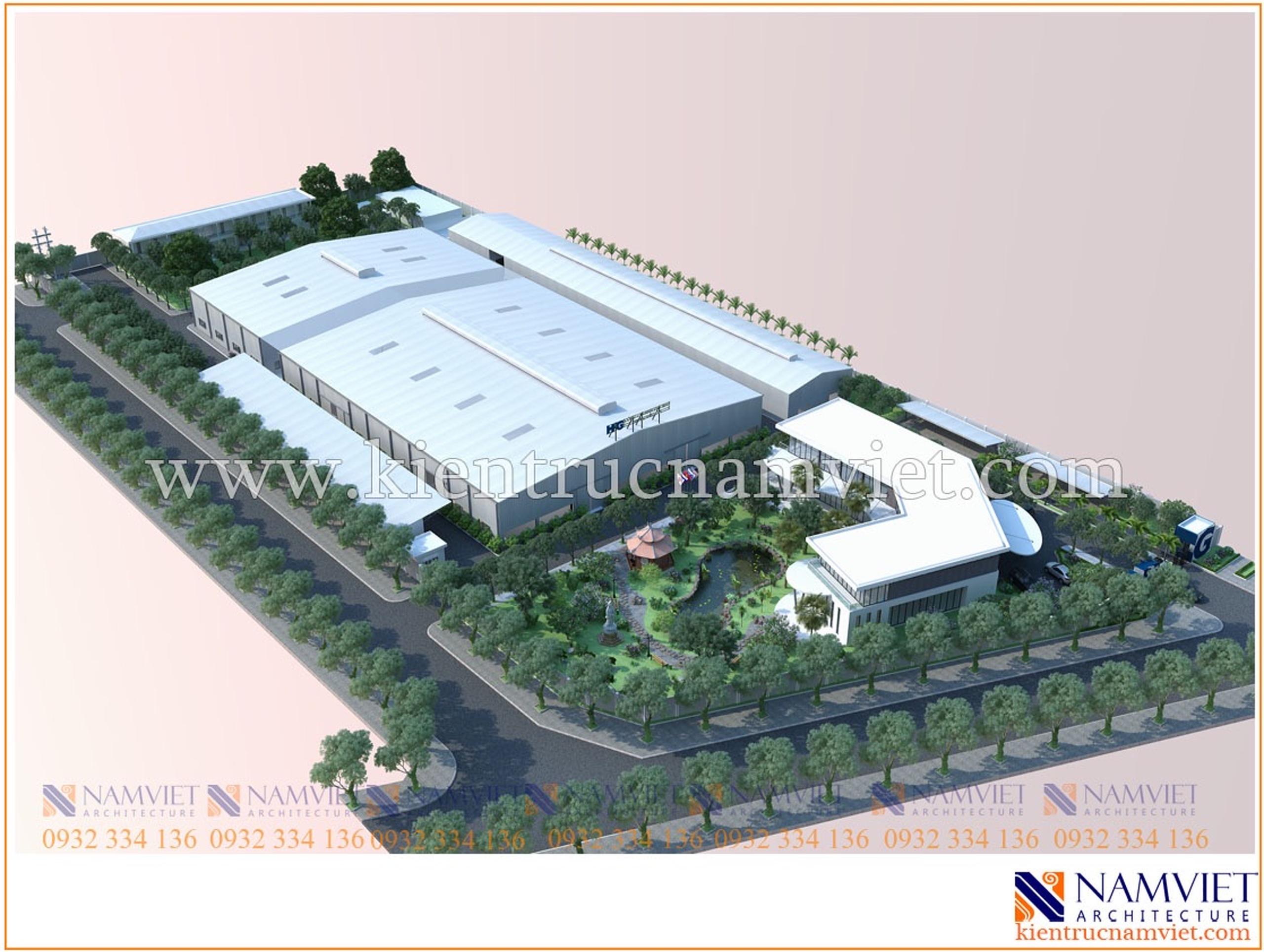 Thiết kế thi công nhà máy dệt may Hồng Phú Gia -Nam Định