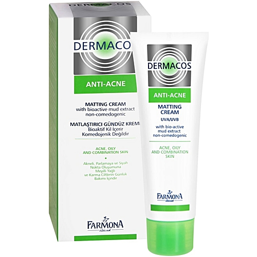 Kem giảm nhờn, ngăn ngừa mụn - dermacos anti acne matting cream