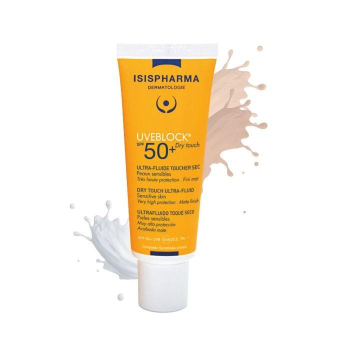 Kem chống nắng dành cho da dầu - Isis Pharma UVEBLOCK SPF50 Dry Touch 40ml (Màu Da/Màu Sáng)