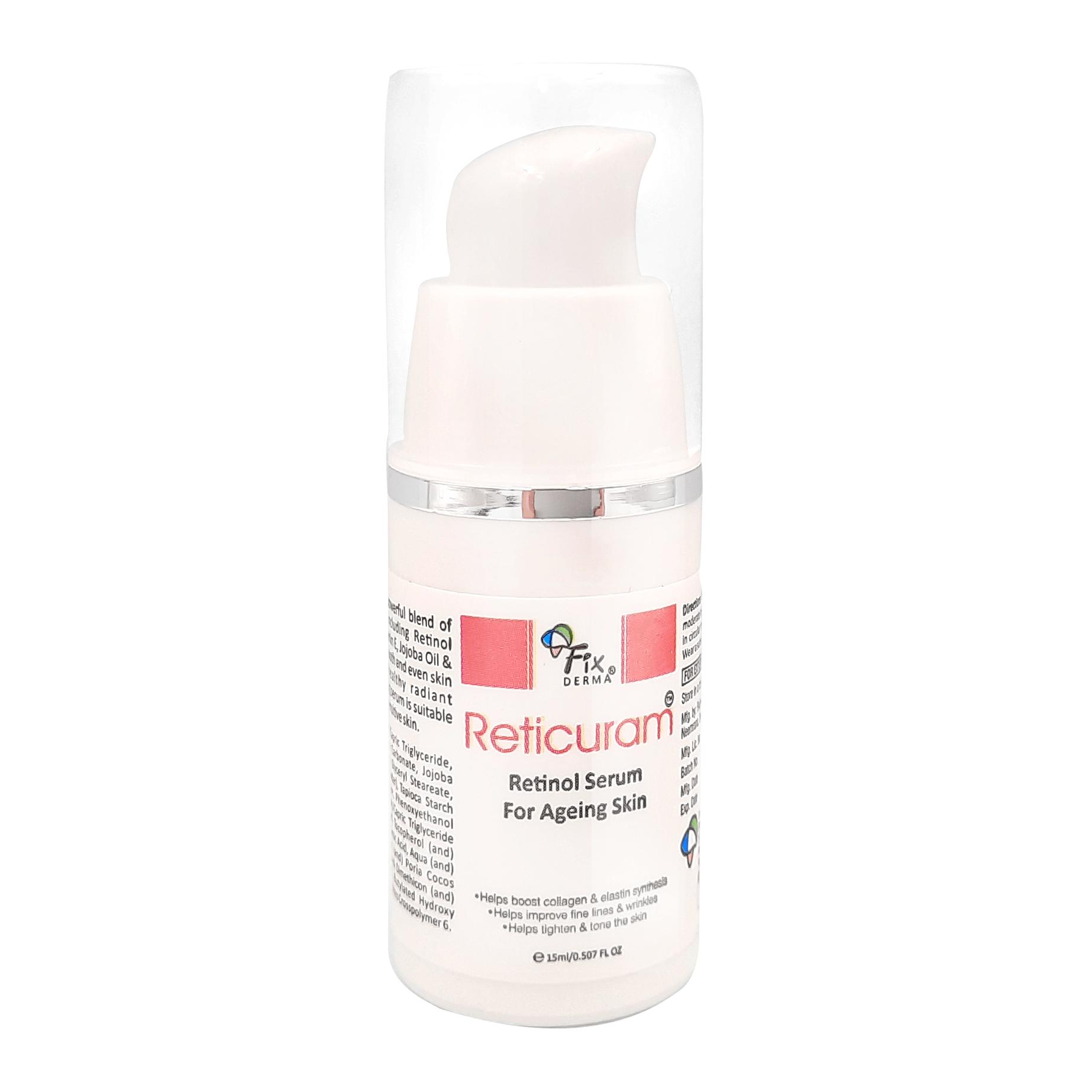 Serum Trẻ Hóa Làn Da, Phù Hợp Cả Da Nhạy Cảm Fixderma Reticuram Serum 15ml
