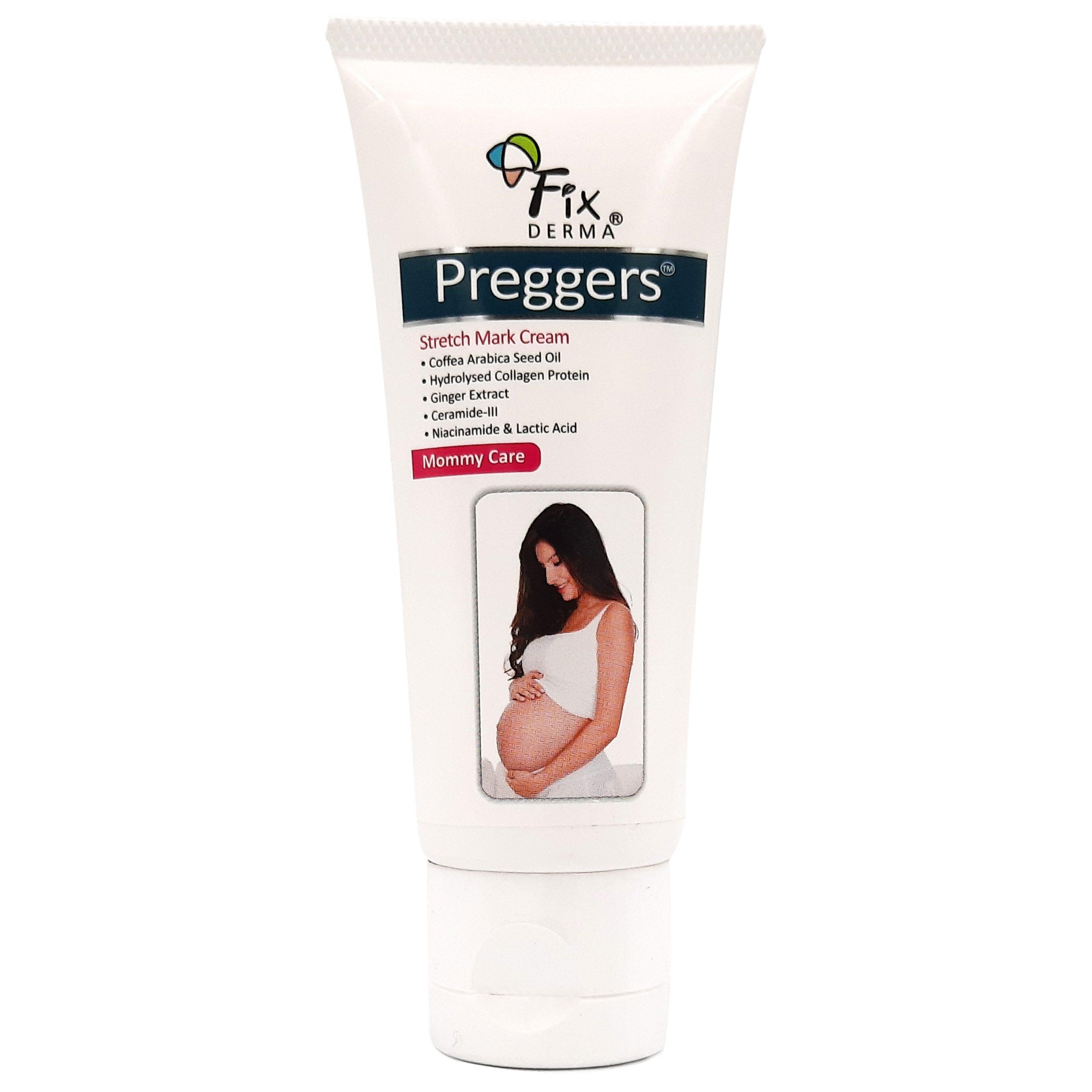 Kem Dưỡng Ẩm, Mềm Da, Mờ Vết Rạn Fixderma Preggers Stretch Mark Cream 60g