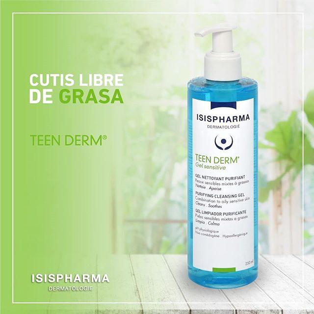 Gel rửa mặt giảm nhờn mụn cho da nhạy cảm - Isis Pharma Teen Derm Gel Sensitive Isis Pharma 250ml