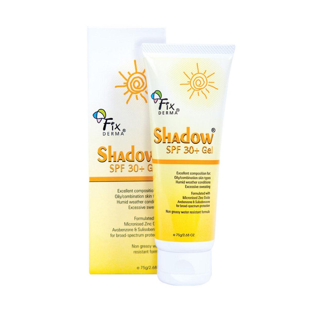 Gel Chống Nắng Da Mặt Fixderma Shadow SPF 30+ (75g)
