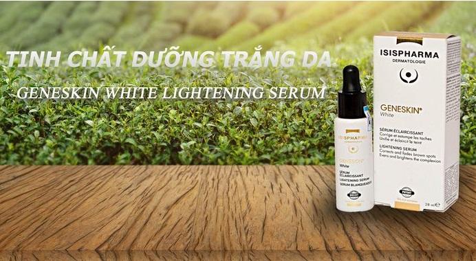 Tinh chất dưỡng sáng da, giảm thâm nám Isis Pharma  GENESKIN white lightening 28ml