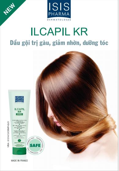 Dầu gội giảm gàu, giảm nhờn và dưỡng tóc -  Isis Pharma ILCAPIL KR 150ml