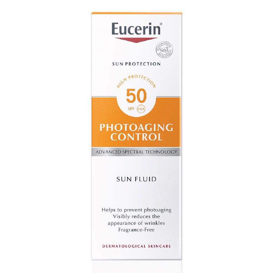 KEM CHỐNG NẮNG GIÚP GIẢM NẾP NHĂN VÀ NGĂN NGỪA LÃO HÓA SUN FLUID PHOTOAGING CONTROL SPF 50