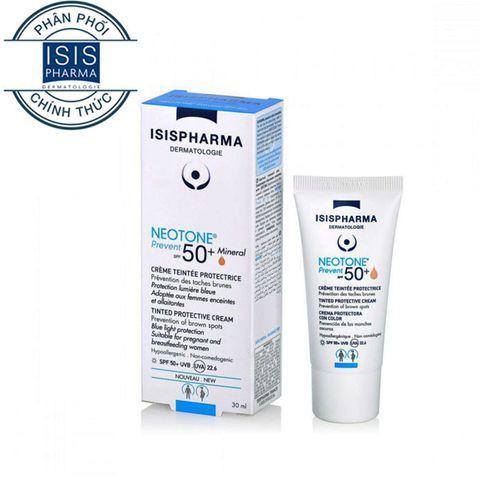 Kem che khuyết điểm, kết hợp chống nắng - Neotone Prevent SPF50 Isis Pharma 30ml