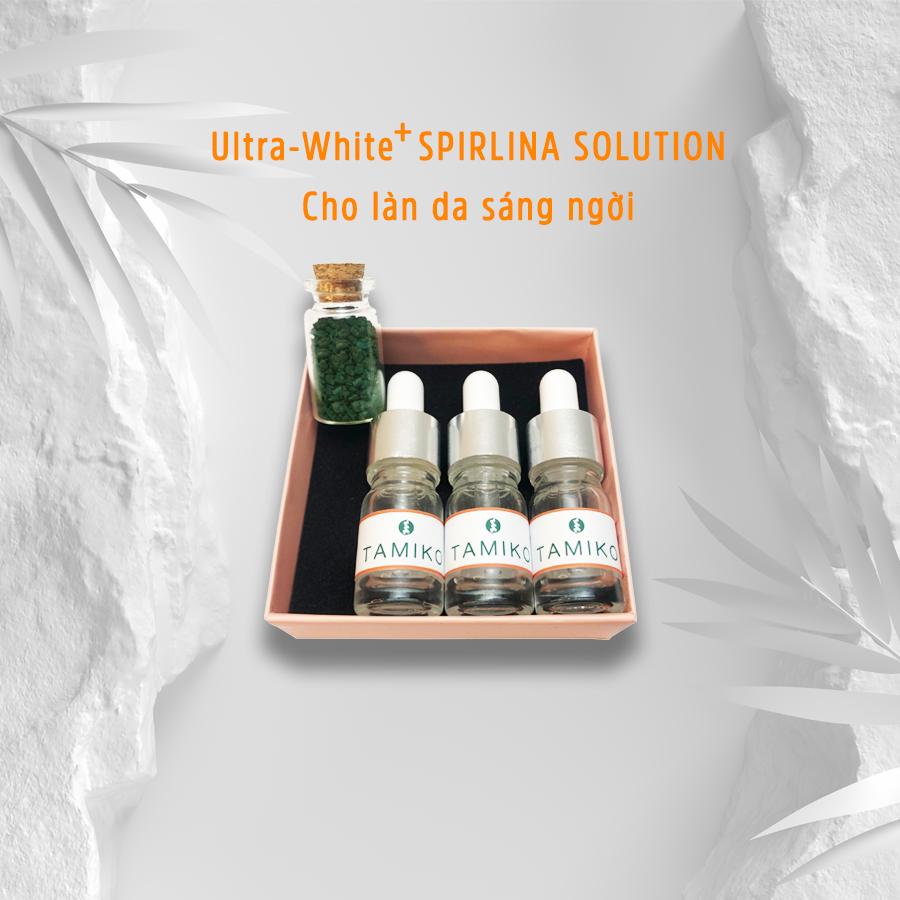 Tinh chất serum dưỡng trắng da từ tảo xoắn Spirulina Nhật Bản