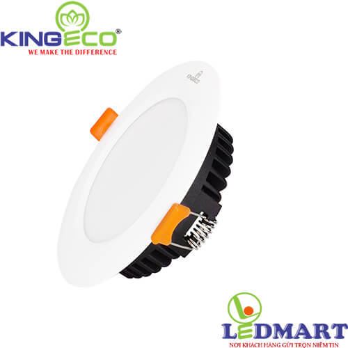 Đèn led âm trần 9W 3 màu KingEco EC-DL-9-T140-DM