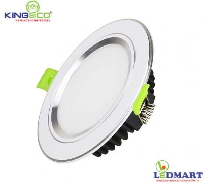 Đèn led âm trần 7W viền bạc mặt phẳng KingEco EC-DLP-7-T120-B