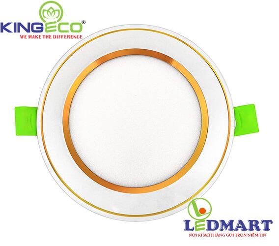 Đèn led âm trần 7W viền vàng mặt phẳng KingEco EC-DLP-7-T120-V