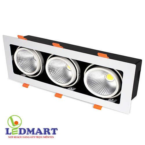 Đèn led âm trần 3 bóng 30w Kingled GL-3x10-V334
