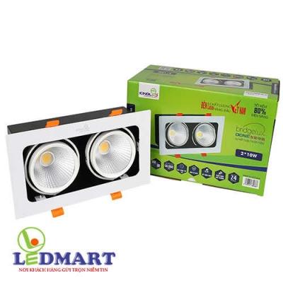 Đèn led âm trần đôi 20w Kingled GL-2x10-V227