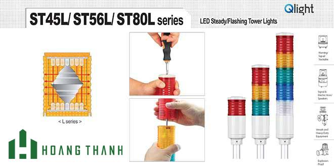 ST45L-R-A-G-B-W MODULE TẦNG MÀU ĐÈN THÁP Φ45 ST45L QLIGHT