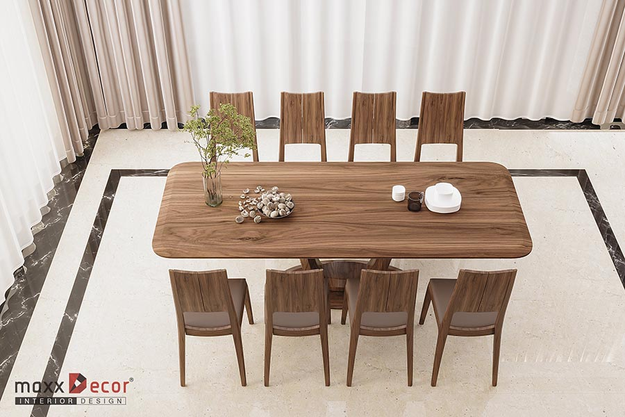Bộ bàn ghế ăn gỗ tự nhiên MBA 139w