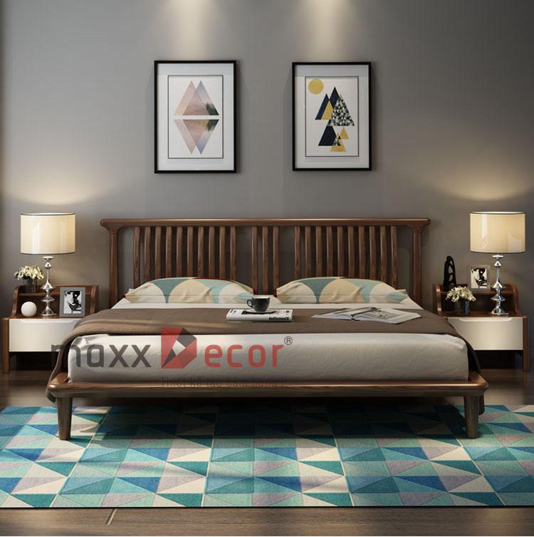 Giường ngủ gỗ óc chó mã MGH 520w