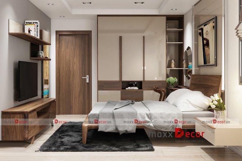 Giường ngủ gỗ óc chó MGH 520w