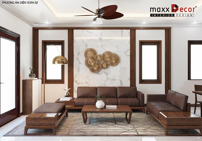Thiết kế không gian nội thất gỗ óc chó sang trọng