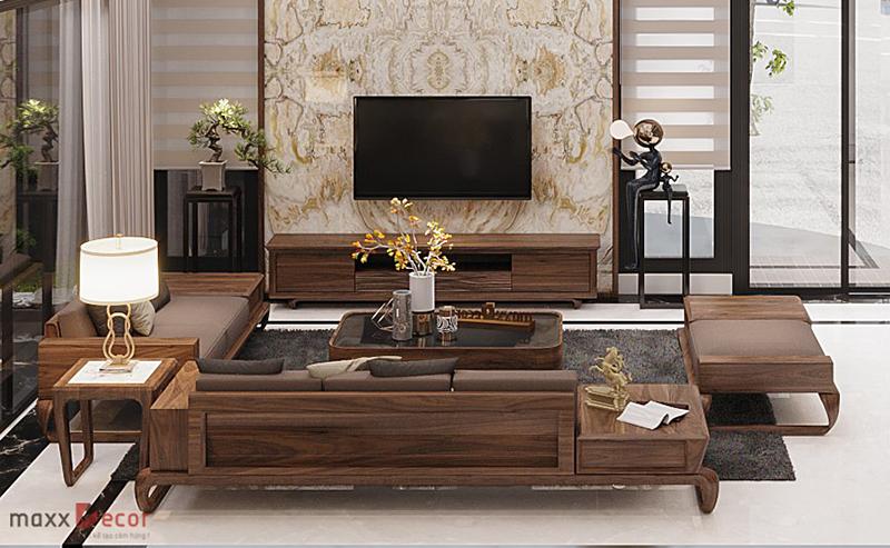 Bàn ghế gỗ óc chó MDG 237w