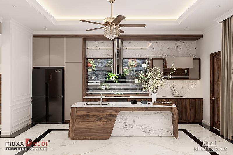 Thiết kế nội thất biệt thự gỗ tự nhiên truyền thống bền đẹp
