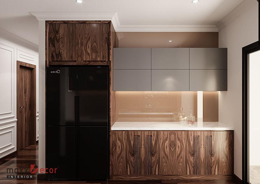 Nội thất gỗ óc chó căn hộ chung cư Epic's Home